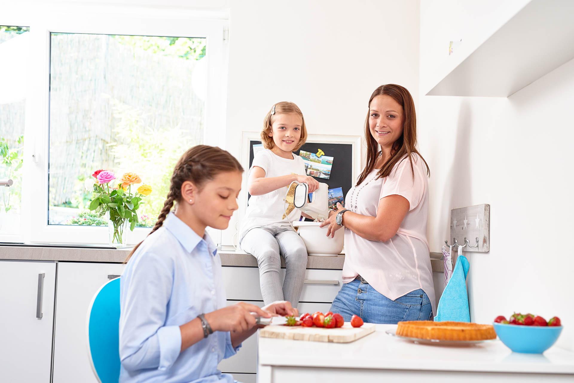 Werbekampagne Annual Report Portrait einer Familie