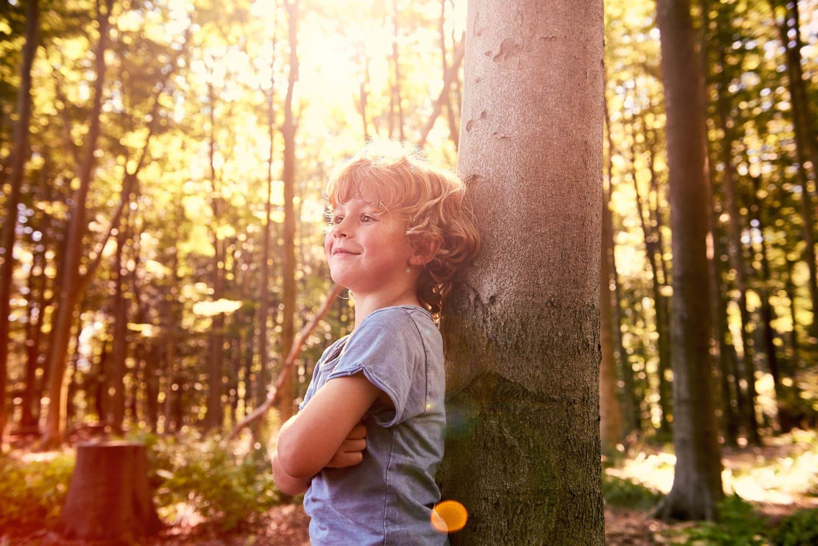 Kid Shooting in der Natur Ruhrgebiet