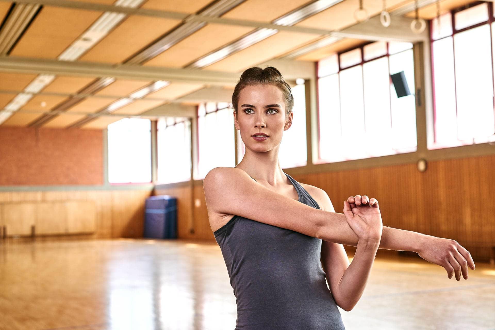 Hübsches Model beim Sport Shooting in Deutschland