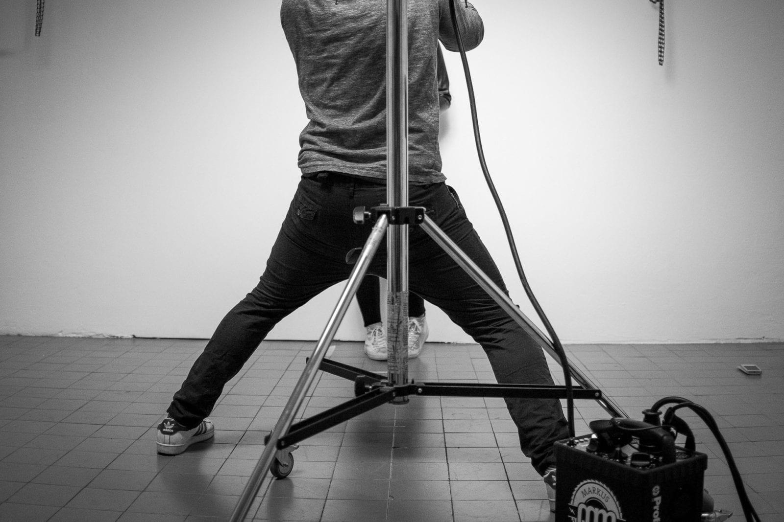 Der Fotograf in seinem Fotostudio auf dem Union Gewerbehof in Dortmund
