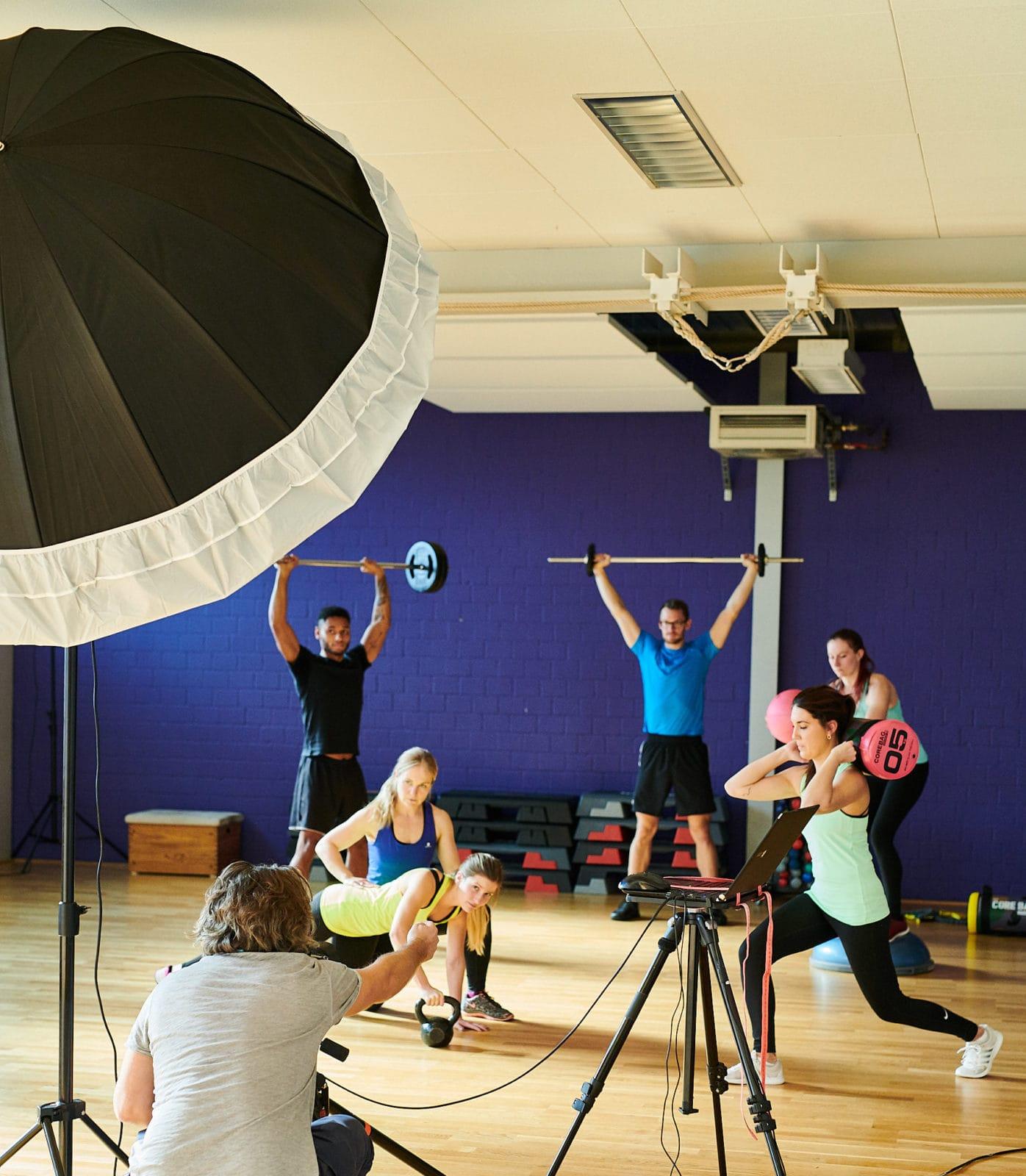 Shooting Location Sporthalle Werbung Fotograf
