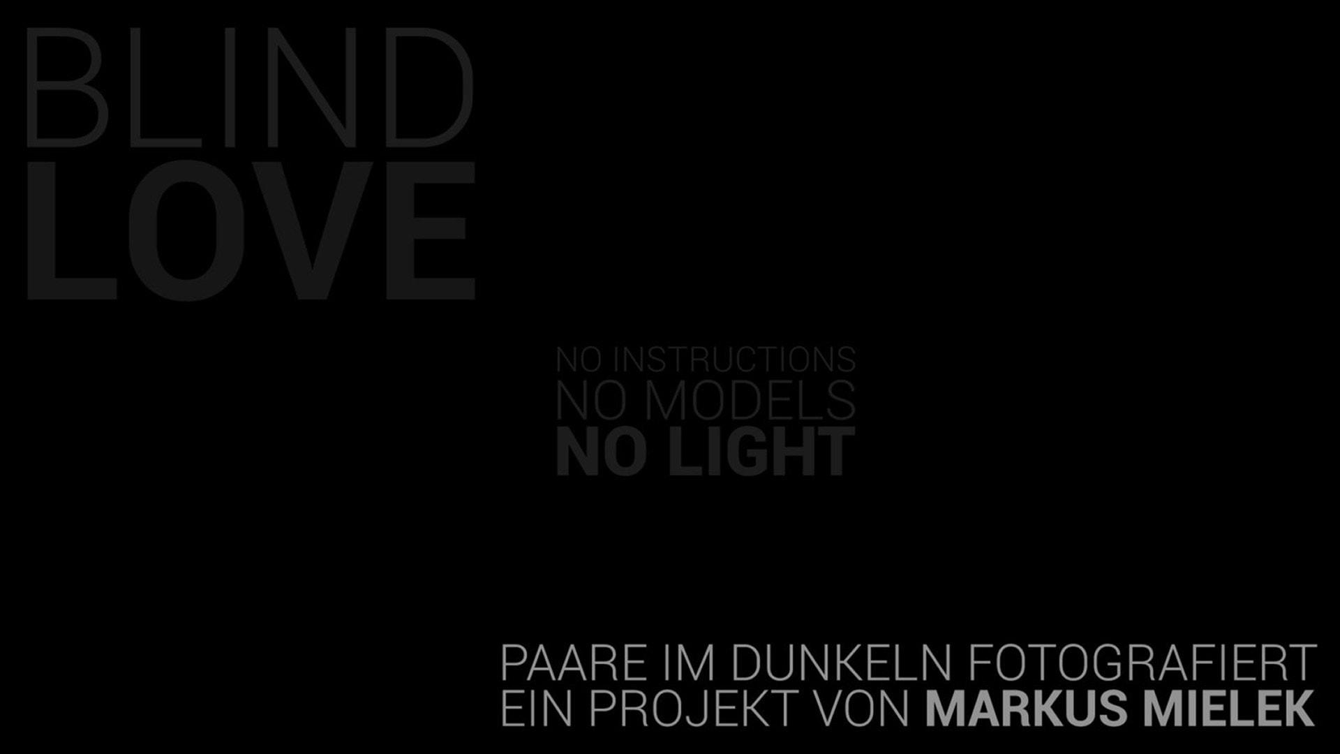 Titelbild für die Fotoserie Blind Love