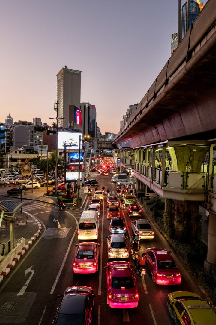 Alltagsszene in Bangkok / Thailand