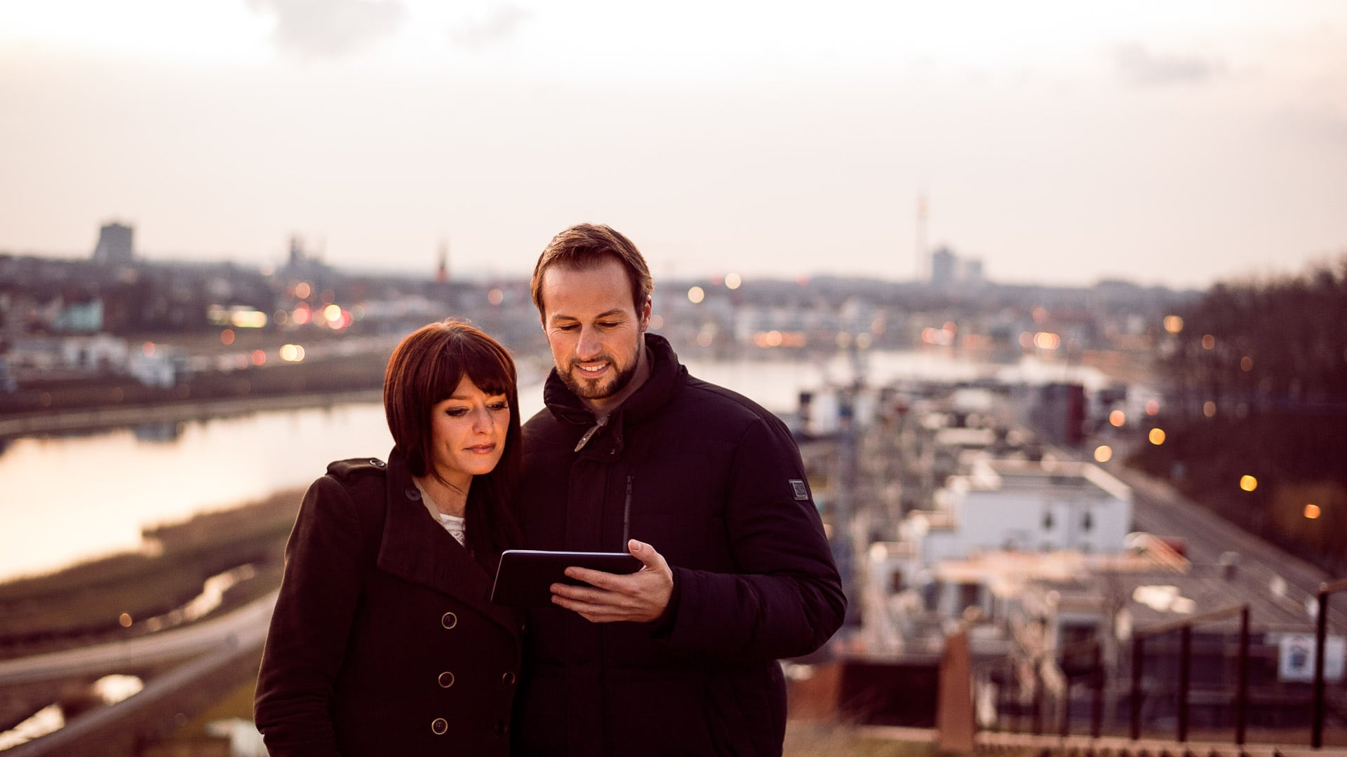 Werbefotograf Markus Mielek shootet Portraits eines Paares am Phönixsee Dortmund