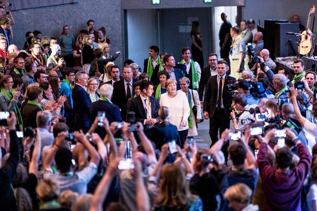 Bundeskanzlerin auf dem Kirchentag in Dortmund