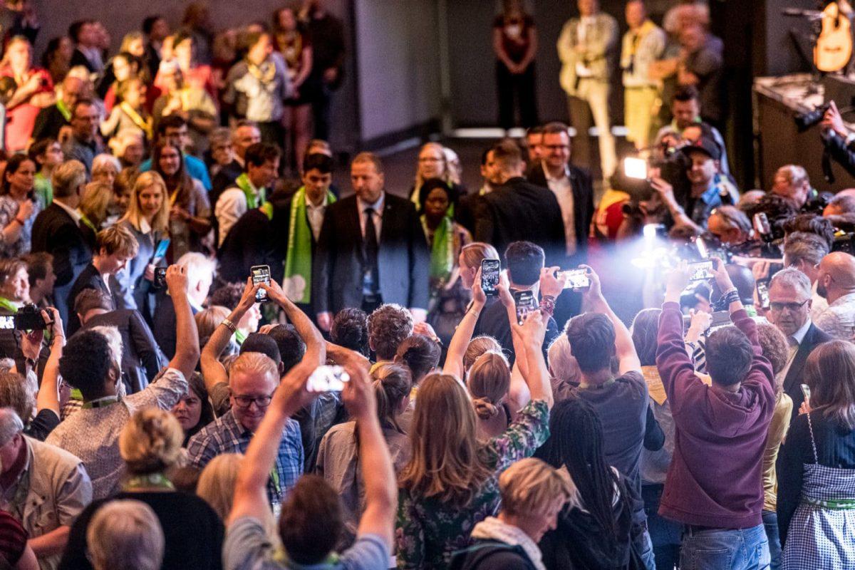 Angela Merkel in der Messe Dortmund