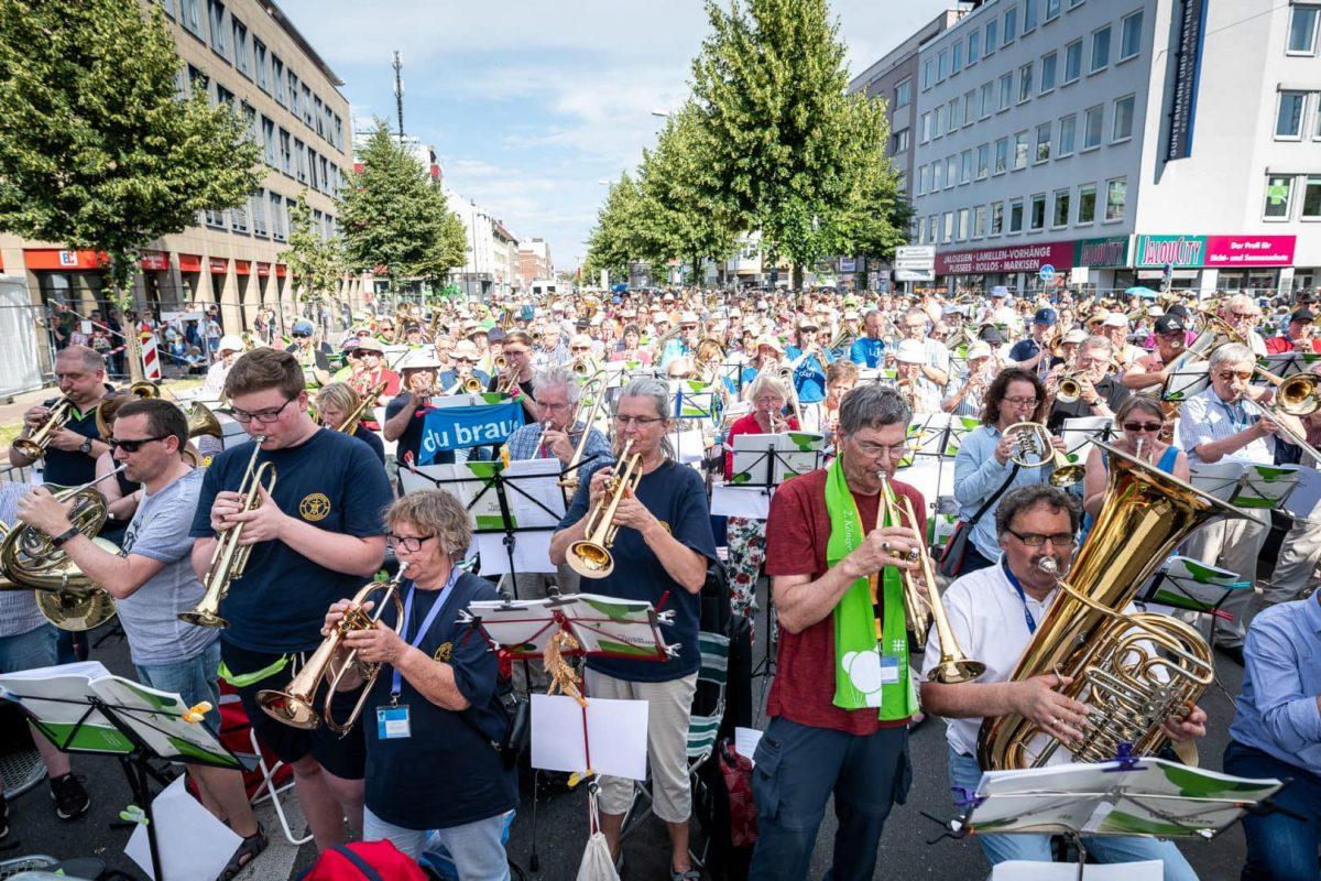 Foto von Musikern auf dem Ostwall in Dortmund