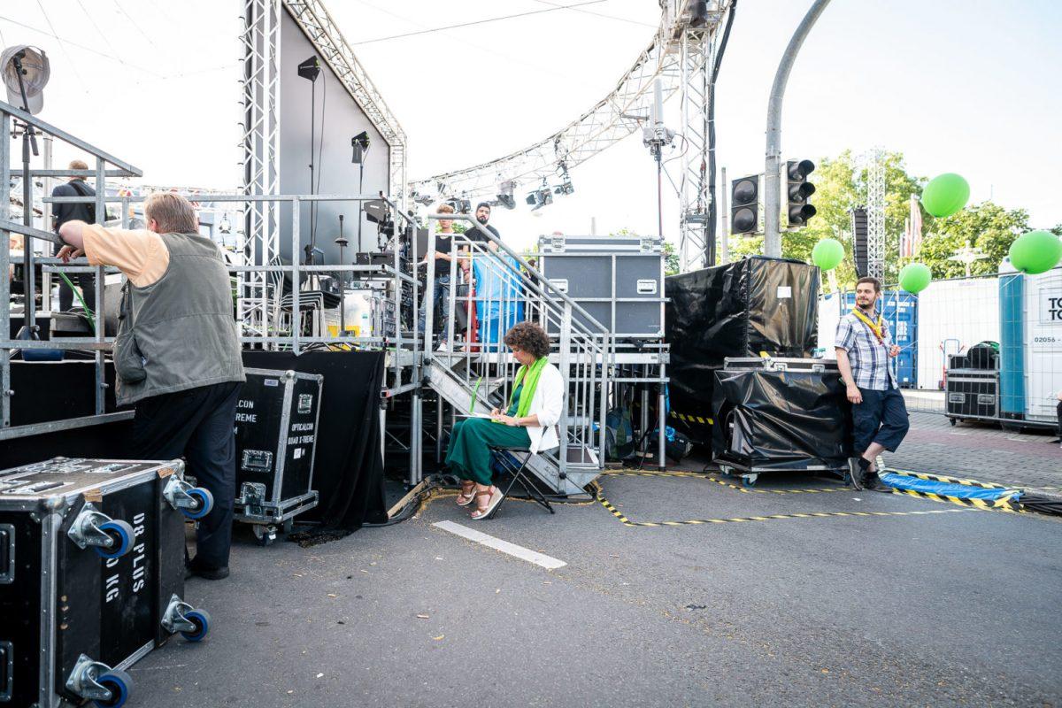 Vorbereitungen zu dem Großevent in Dortmund