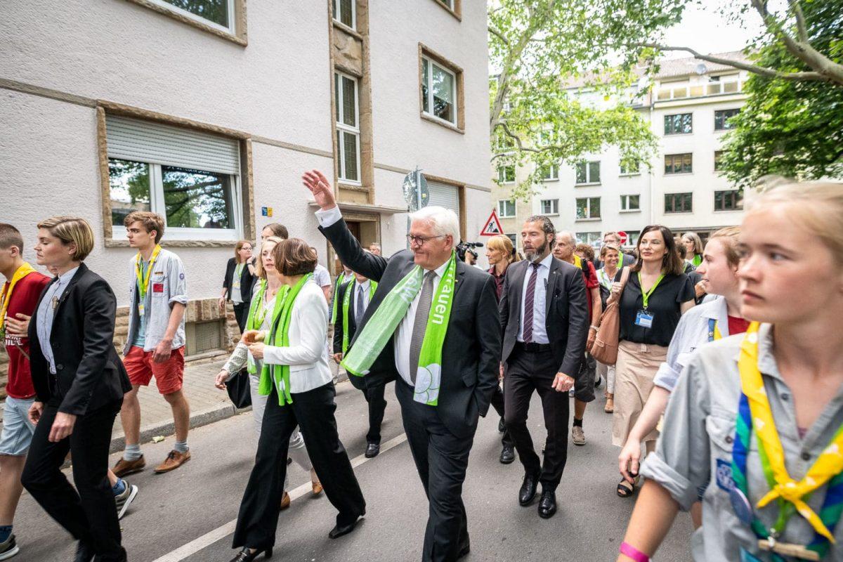 Frank Walter Steinmeier auf dem Kirchentag in Dortmund