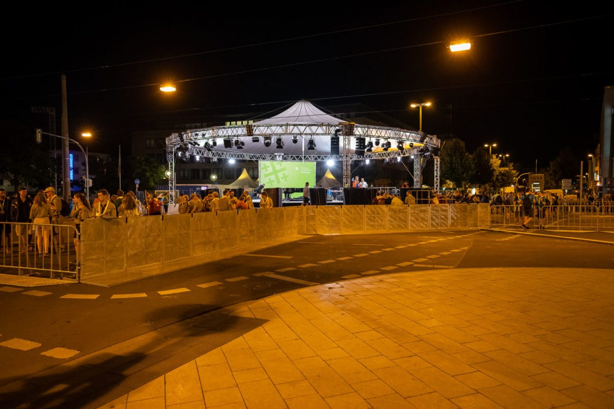 Nachtaufnahme Dortmund Kirchentag